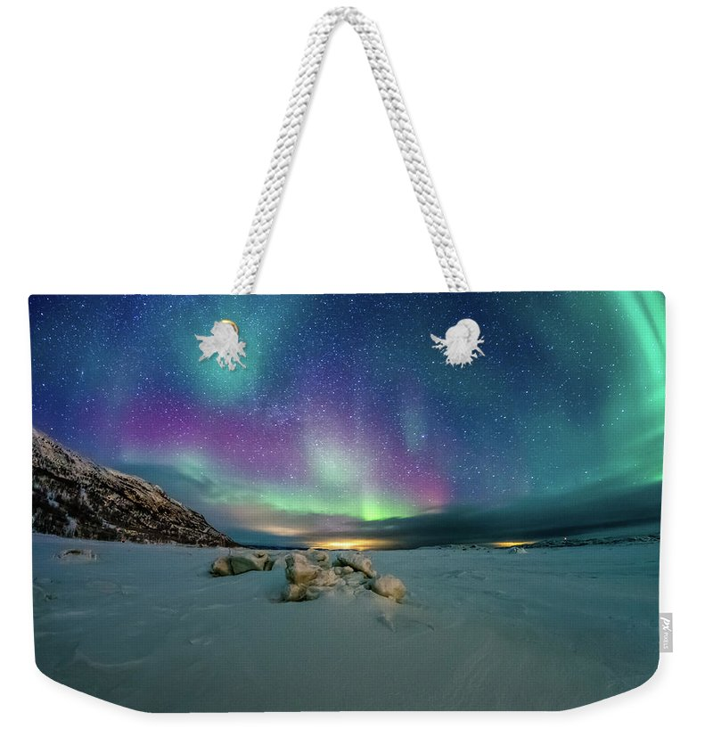 Scenics Weekender Tote Bag featuring the photograph Frozen Fjord by Norseman1968