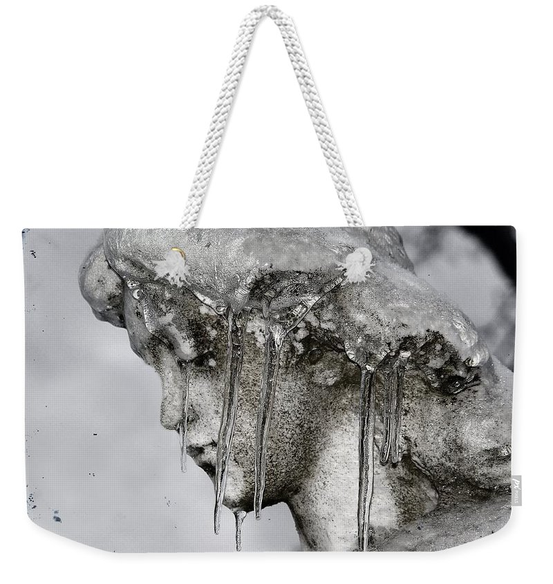 Stone Angel Weekender Tote Bag featuring the photograph Frozen In Time by Gothicrow Images