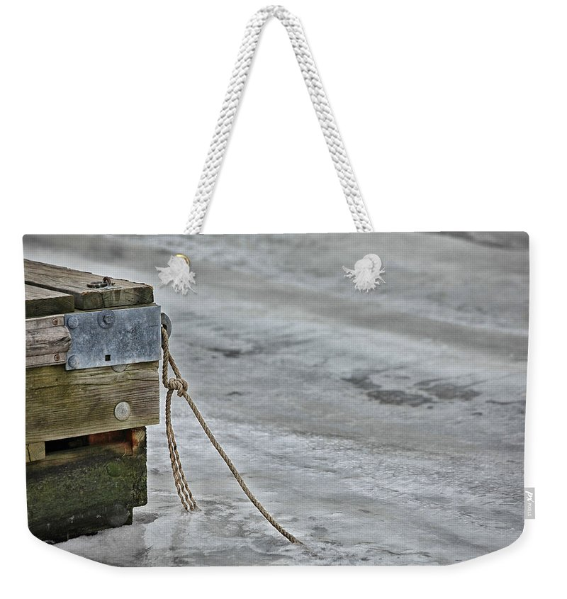 Frozen Weekender Tote Bag featuring the photograph Frozen by Karol Livote