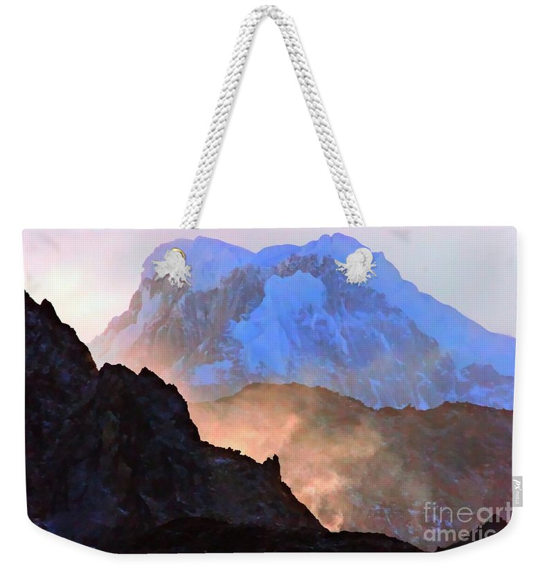 Mountains Weekender Tote Bag featuring the photograph Frozen - Torres Del Paine National Park by Tap On Photo