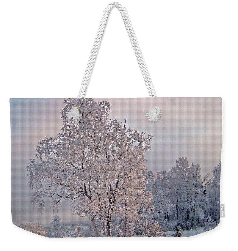 Alaska Weekender Tote Bag featuring the photograph Frozen Moment by Jeremy Rhoades