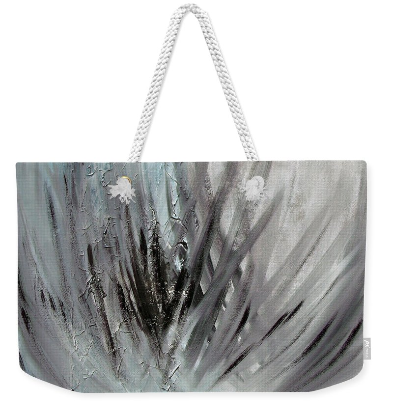Abstract Weekender Tote Bag featuring the painting Frozen by Sergey Bezhinets
