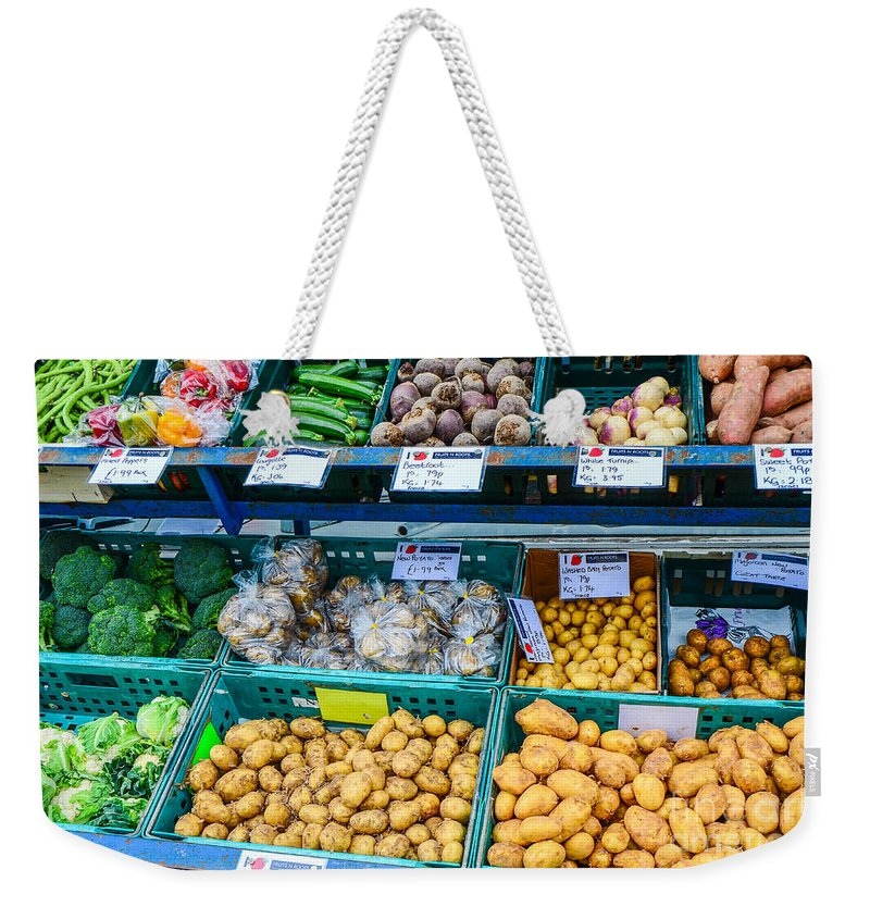 Agriculture Weekender Tote Bag featuring the photograph Fruits 'n' Roots 3 by Mary Carol Story