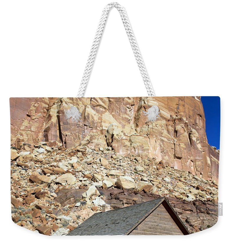 Capitol Reef Weekender Tote Bag featuring the photograph Frutia Schoolhouse Capitol Reef National Park Utah by Jason O Watson