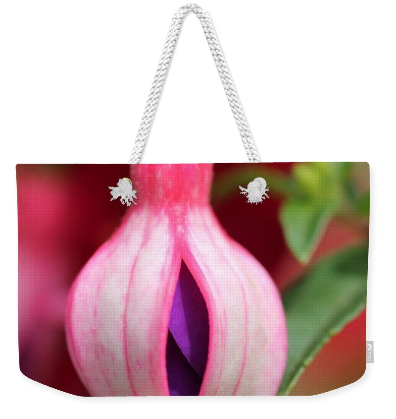Mccombie Weekender Tote Bag featuring the photograph Fuchsia Named Lambada by J McCombie