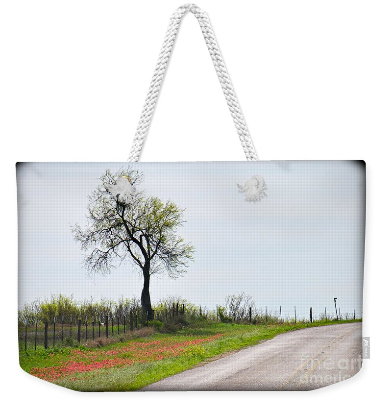 Roadside Weekender Tote Bag featuring the photograph Fugacious by Gary Richards