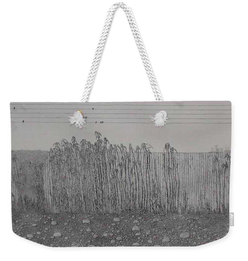 Landscape Weekender Tote Bag featuring the painting Fugue by A Robert Malcom