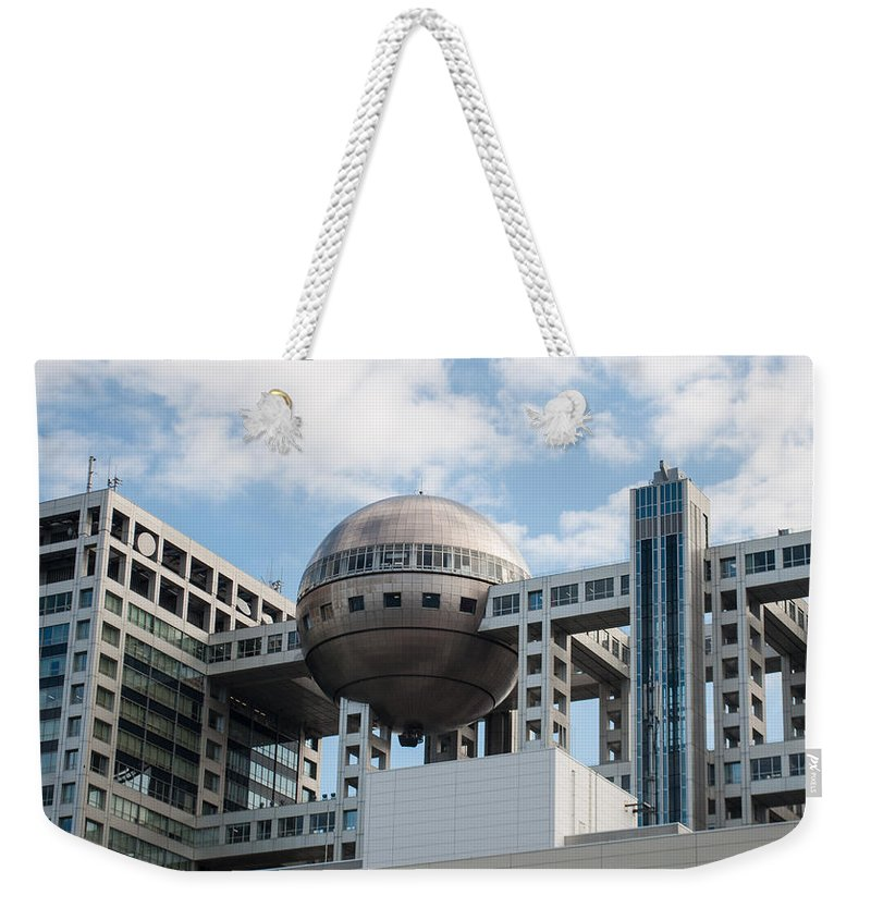 Architecture Weekender Tote Bag featuring the photograph Fuji T.v Headquarters by Jill Mitchell