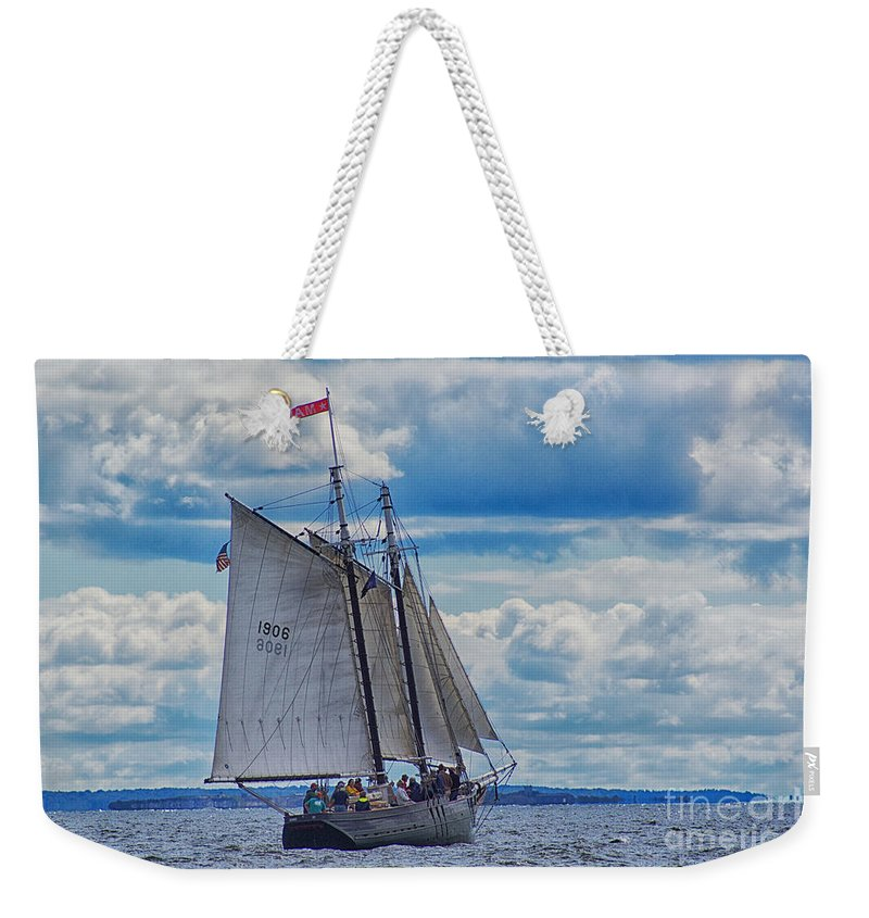 Antique Weekender Tote Bag featuring the photograph Full Boat by Joe Geraci