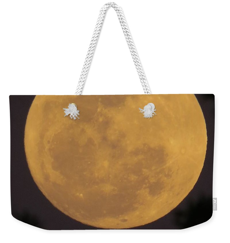 Full Moon Weekender Tote Bag featuring the photograph Full Moon II by Zina Stromberg