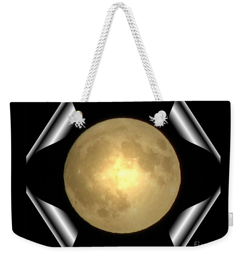 Moon Weekender Tote Bag featuring the photograph Full Moon Unfolding by Rose Santuci-Sofranko