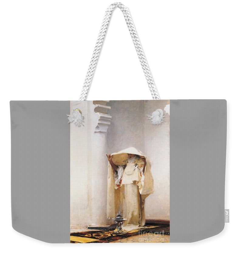 U.s.pd: Pd-art: Reproduction Weekender Tote Bag featuring the painting Fumee D' Ambre Gris by Reproduction