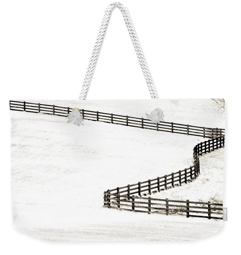Americana Weekender Tote Bag featuring the photograph Fun Lines by Marilyn Hunt