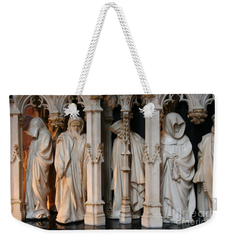 Grave Weekender Tote Bag featuring the photograph Funeral Procession Of The Friar - Palace Dijon by Christiane Schulze Art And Photography