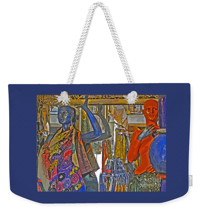 Fashion Weekender Tote Bag featuring the photograph Funky Boutique by Ann Horn