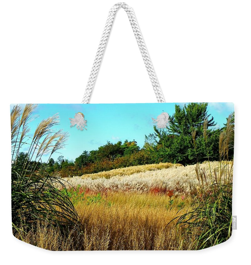 Photo Weekender Tote Bag featuring the photograph Furry Hill by Tim Fillingim