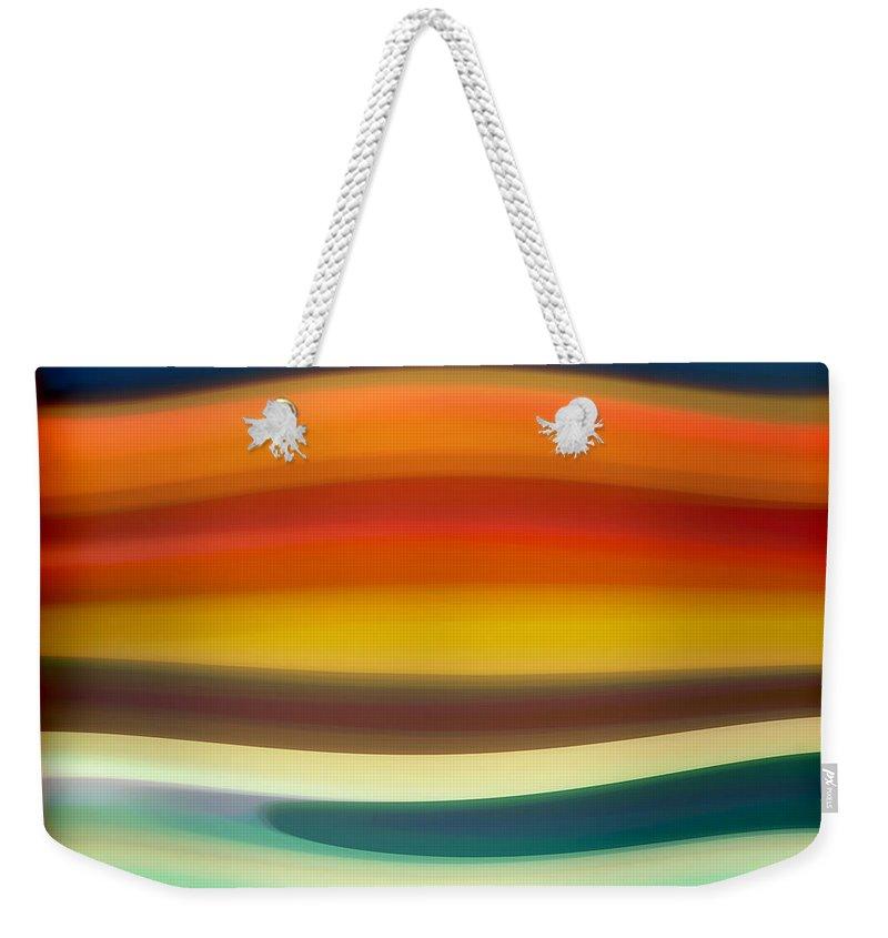 Fury Weekender Tote Bag featuring the painting Fury Sea 1 by Amy Vangsgard