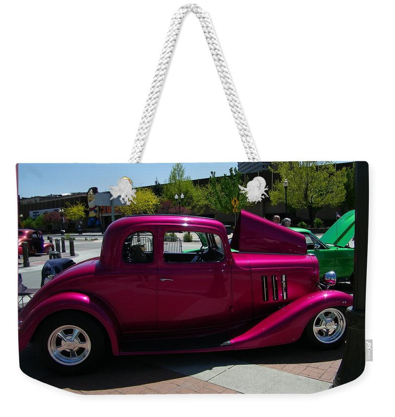 Classic Prints Weekender Tote Bag featuring the photograph Fuschia Fusion by Bobbee Rickard