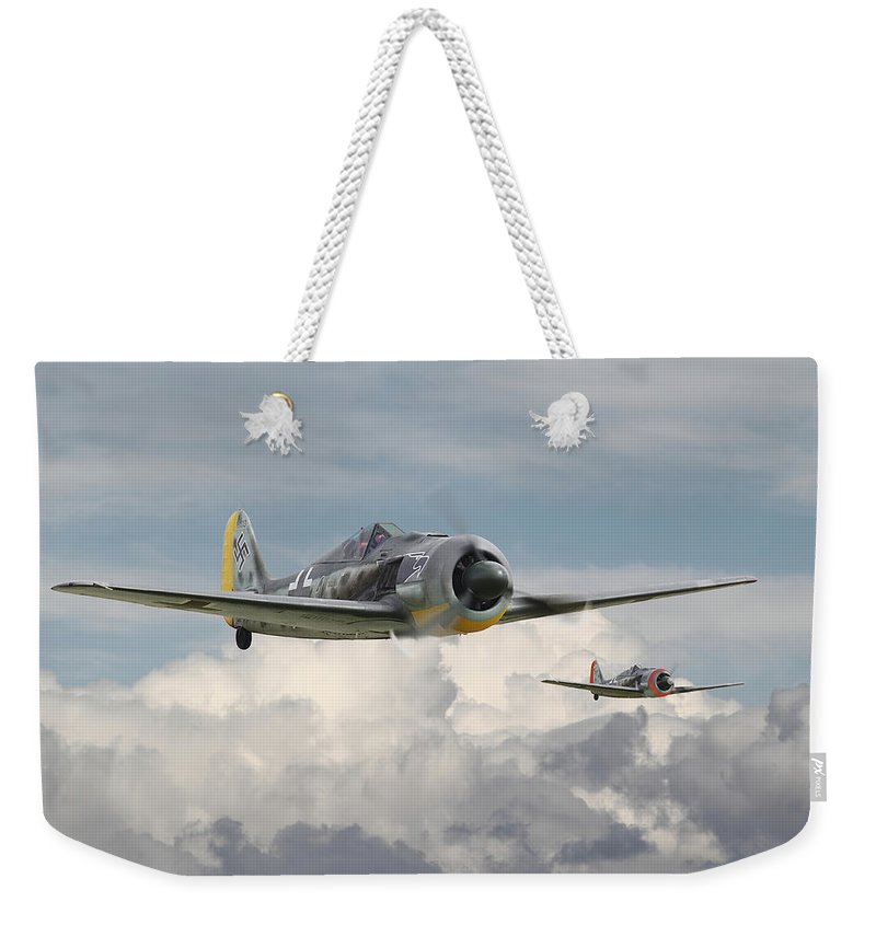 Aircraft Weekender Tote Bag featuring the photograph Fw 190 - Butcher Bird by Pat Speirs