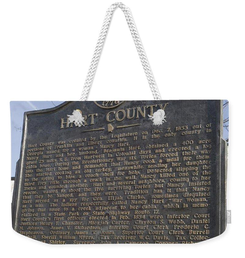 Travel Weekender Tote Bag featuring the photograph Ga-73-4 Hart County by Jason O Watson
