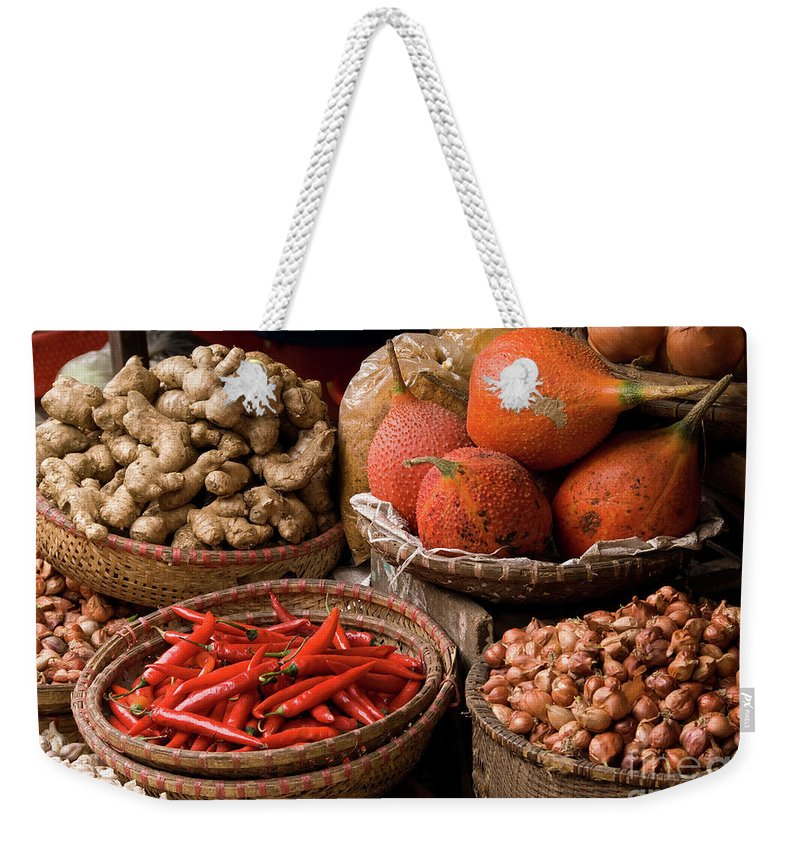 Basket Weekender Tote Bag featuring the photograph Gac Fruit 01 by Rick Piper Photography