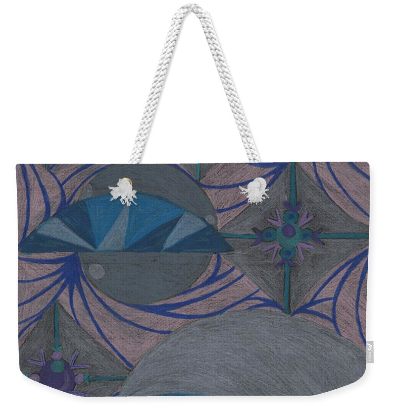 Color Weekender Tote Bag featuring the drawing Galactic by Kim Sy Ok