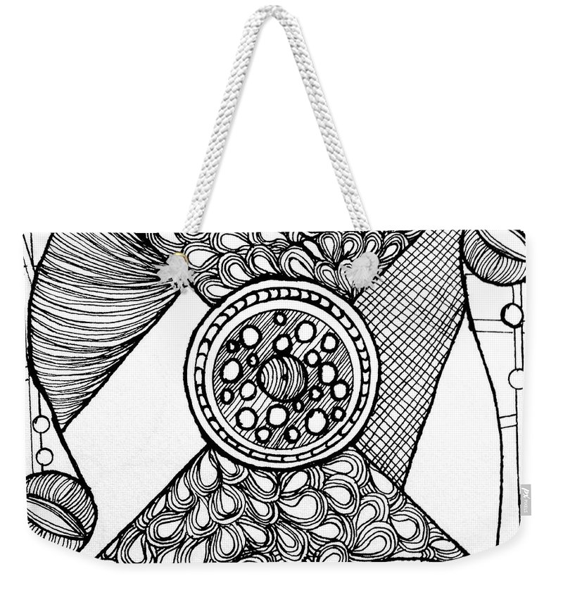 African-american Artist Weekender Tote Bag featuring the drawing Galaxy by Anita Lewis