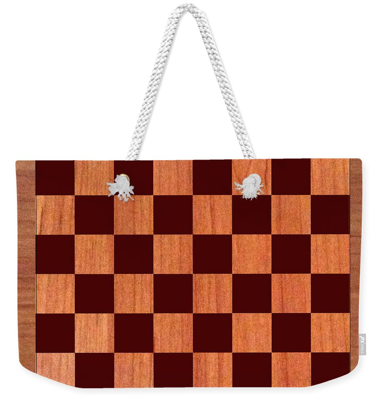 Order This Wood Grain Game Board As A Duvet Covers For Your King Bed Weekender Tote Bag featuring the photograph Game Board by Jack Pumphrey