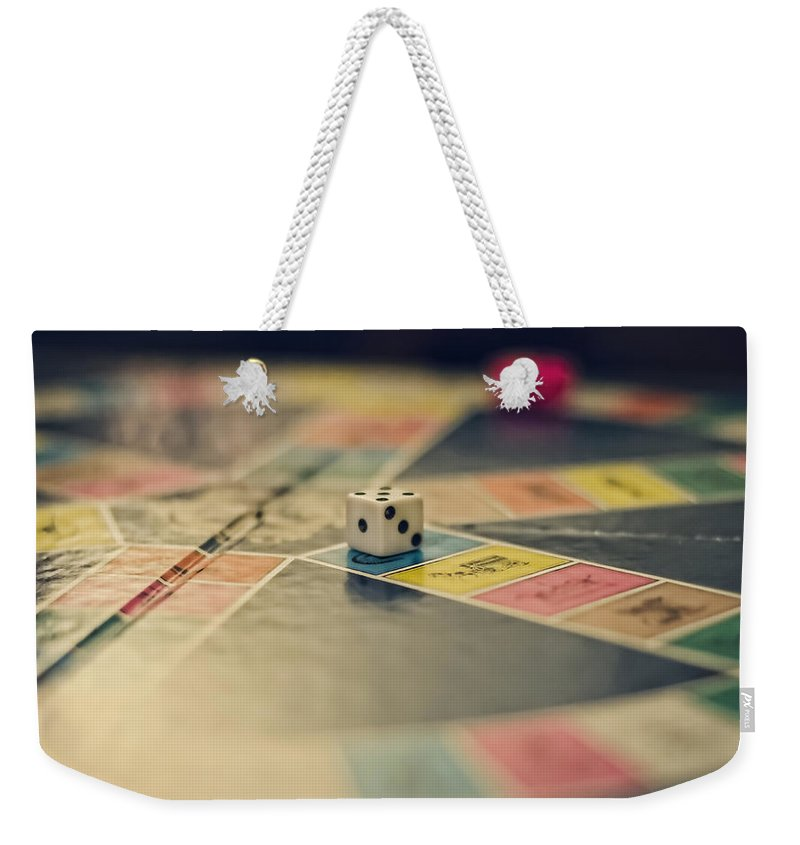 Trivial Pursuit Weekender Tote Bag featuring the photograph Game On by Heather Applegate