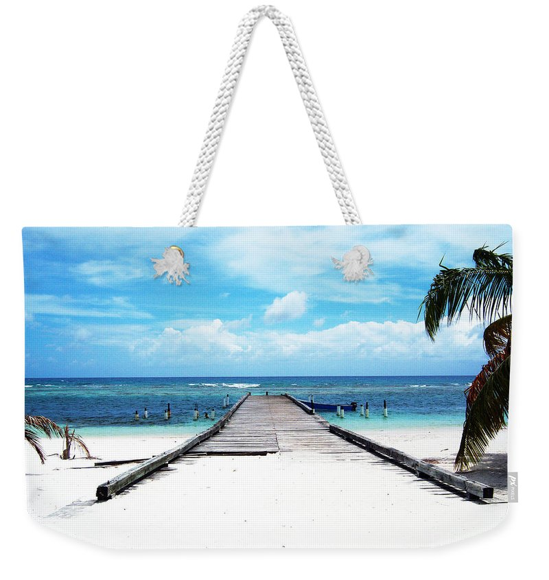 Palm Weekender Tote Bag featuring the photograph Gangplank Of Perfection by Heather Kirk