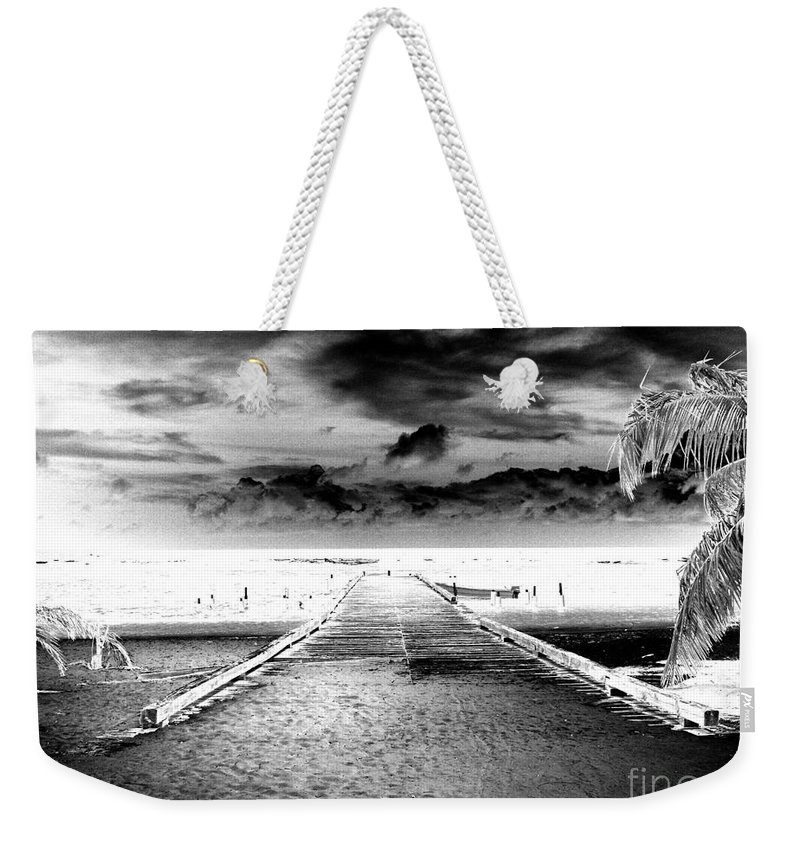 Palm Weekender Tote Bag featuring the photograph Gangplank Of Perfection Infrared Extreme by Heather Kirk