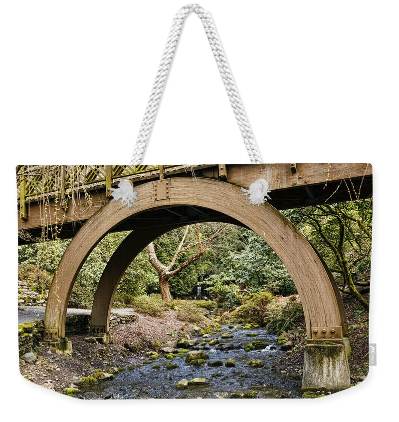 Garden Arch Weekender Tote Bag featuring the photograph Garden Arch by Wes and Dotty Weber