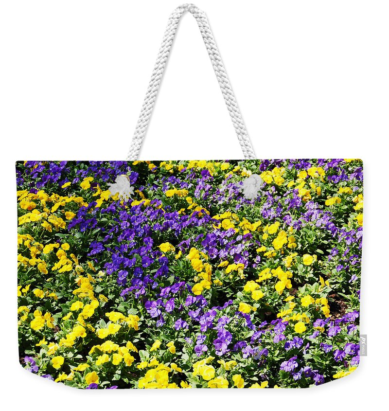 Garden Weekender Tote Bag featuring the photograph Garden Delight by Aimee L Maher ALM GALLERY
