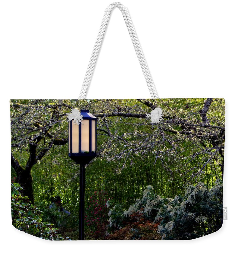 Yashiro Garden Weekender Tote Bag featuring the photograph Garden Dream by Jeanette C Landstrom