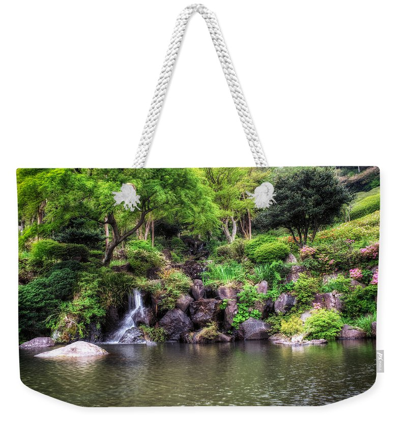 Flower Countryside Spring Meadow Garden Season Beauty Summer Nature Field Poppy Grass Green Plant Colours Background Landscape Natural Red Rural Blossom Bloom Sun Sky Blue Beautiful Wild Outdoors Cloud Floral Weekender Tote Bag featuring the photograph Garden Green by John Swartz