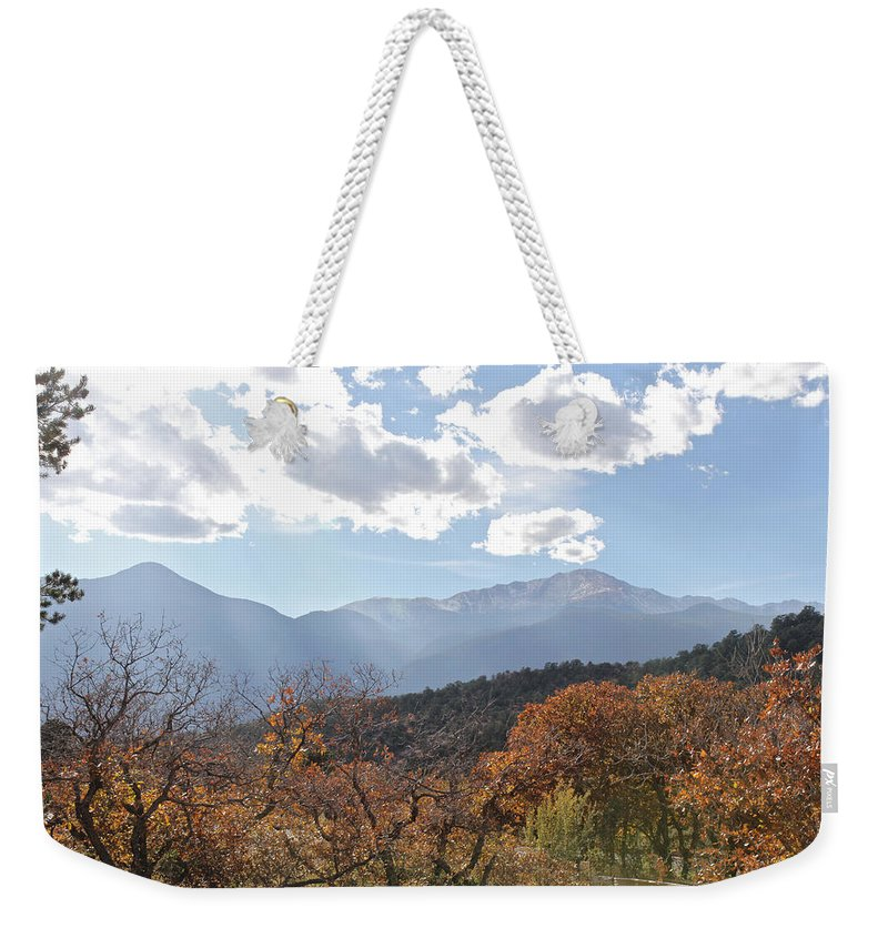 Nature Weekender Tote Bag featuring the photograph Garden Of The Gods 1 by Noa Mohlabane