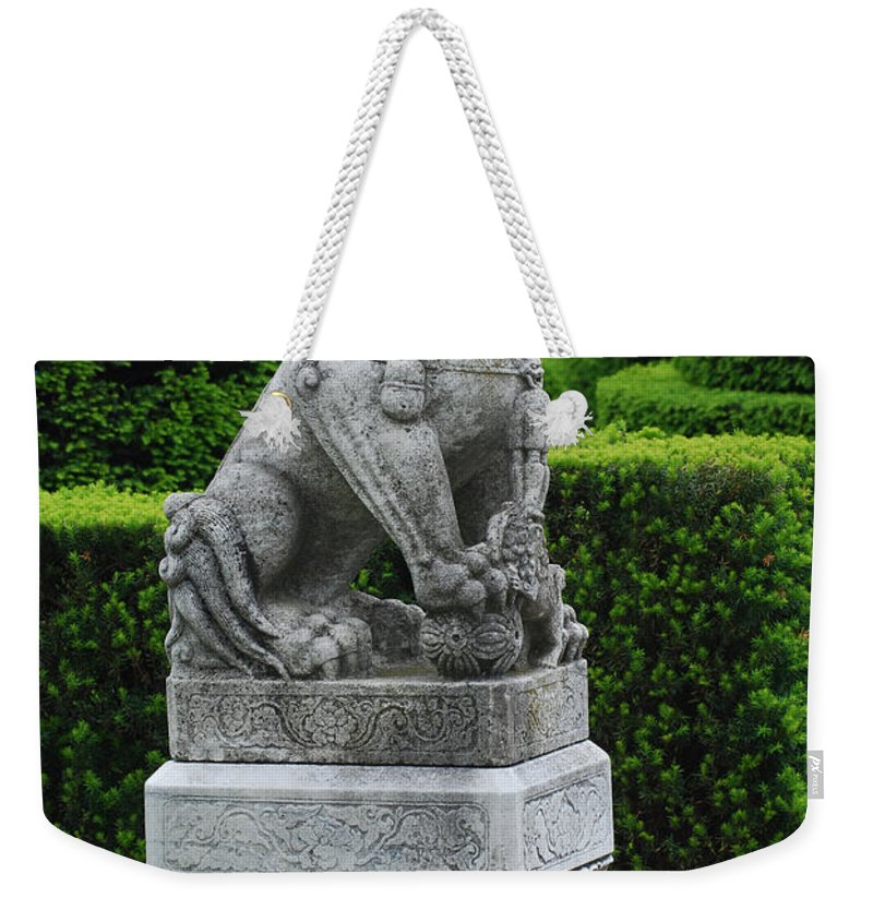 Longwood Weekender Tote Bag featuring the photograph Garden Statue by Richard Bryce and Family