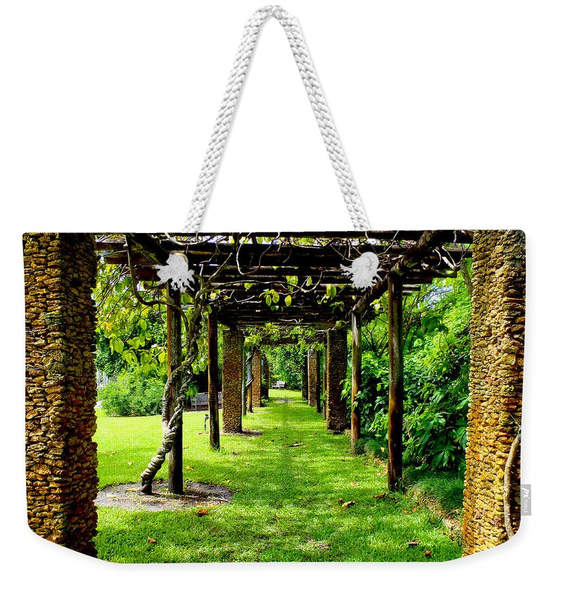 Garden Weekender Tote Bag featuring the photograph Garden Walkway by Carey Chen