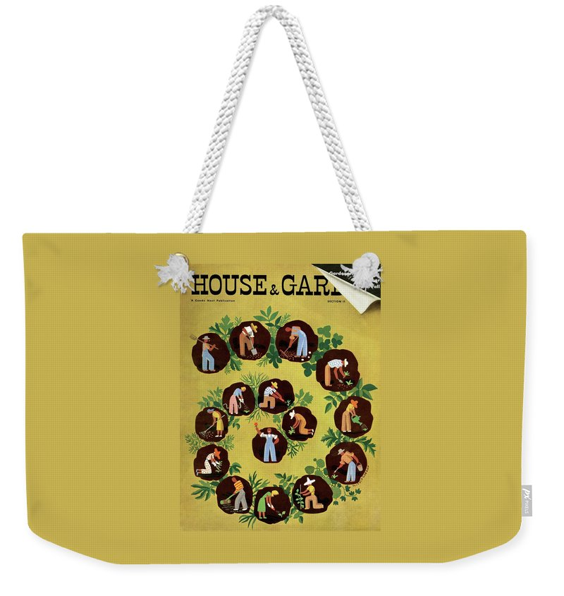 House And Garden Weekender Tote Bag featuring the photograph Gardeners And Farmers by Witold Gordon