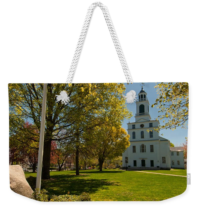gardens Of The First Parish Weekender Tote Bag featuring the photograph Gardens Of The First Parish by Paul Mangold