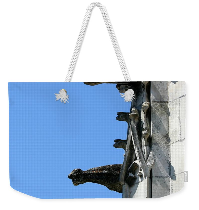 Gargoyles Weekender Tote Bag featuring the photograph Gargoyles In A Row by Christiane Schulze Art And Photography