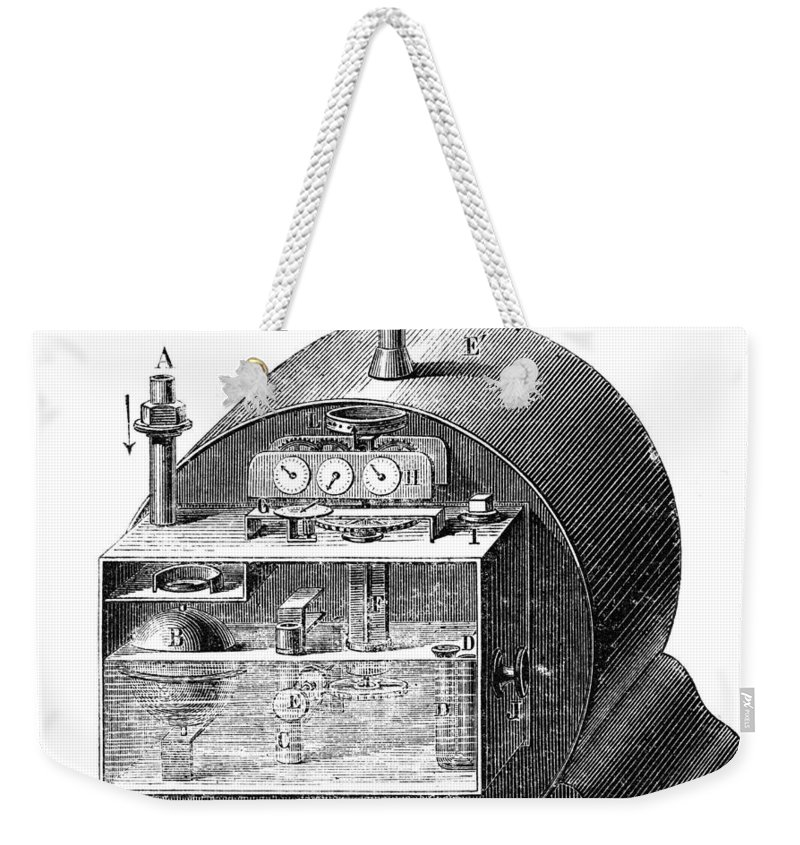 19th Century Weekender Tote Bag featuring the photograph Gas Meter by Granger