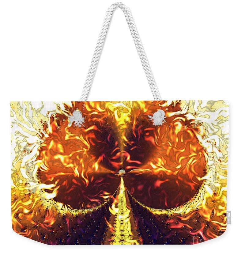 Abstract Weekender Tote Bag featuring the digital art Gasoline by Dana Haynes