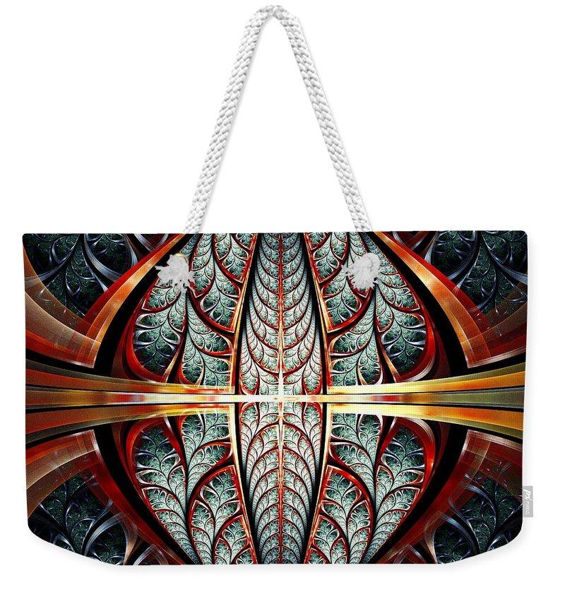 Malakhova Weekender Tote Bag featuring the mixed media Gates Of Night by Anastasiya Malakhova