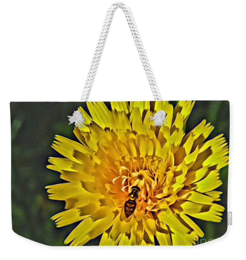 Gather Weekender Tote Bag featuring the photograph Gathering Nectar by Scott Hervieux