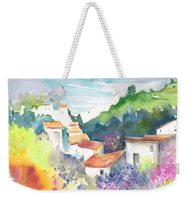 Spain Weekender Tote Bag featuring the painting Gatova Spain 03 by Miki De Goodaboom