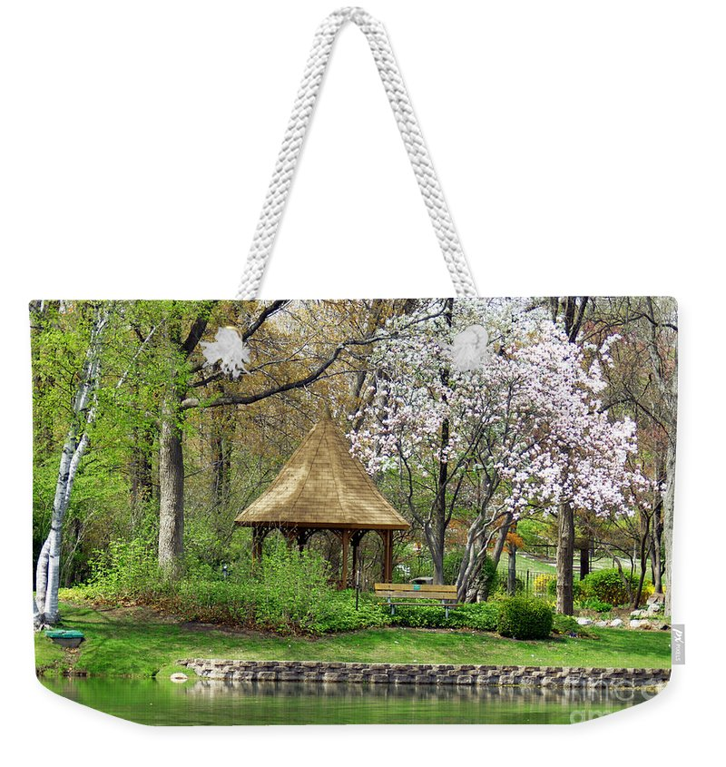 Gazebo Weekender Tote Bag featuring the photograph Gazebo by Optical Playground By MP Ray