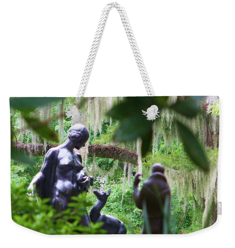 Female Weekender Tote Bag featuring the photograph Goddess Of The Woods by Chuck Hicks