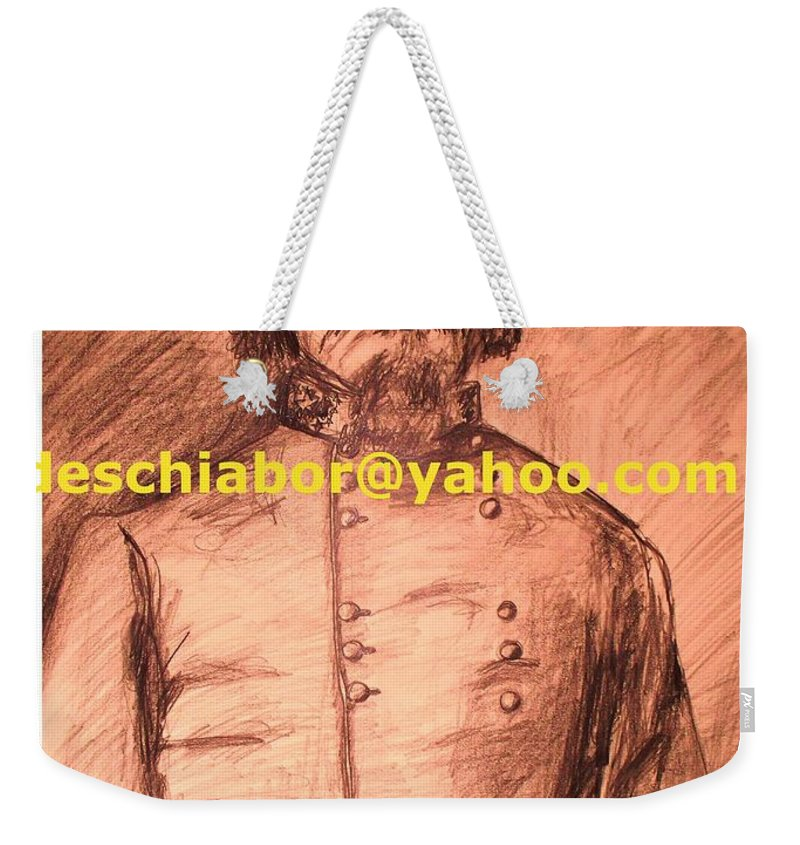 General Pickett Weekender Tote Bag featuring the painting General Pickett Confederate by Eric Schiabor