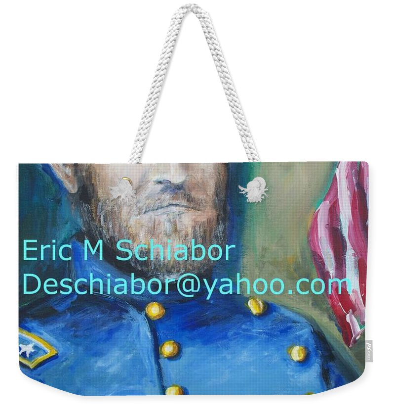 Grant Artwork Weekender Tote Bag featuring the painting General Us Grant by Eric Schiabor